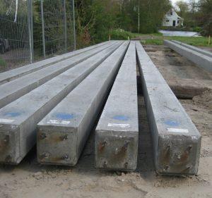 Detailfoto betonpalen